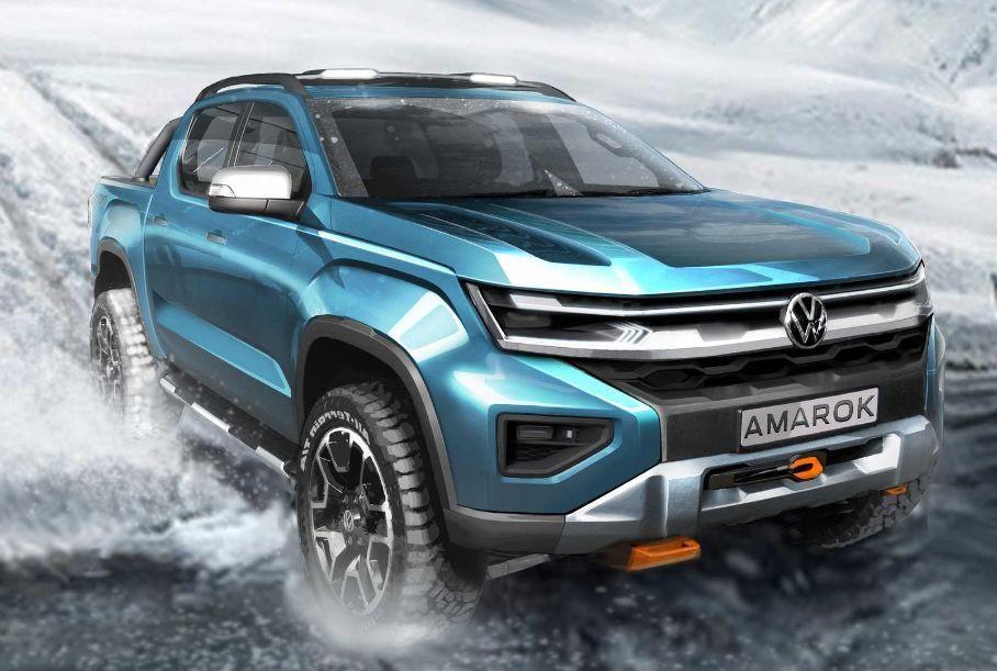 Спустя год Volkswagen напомнил о разработке нового поколения Amarok еще одним тизером