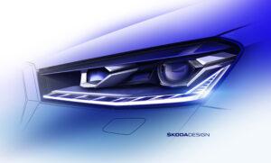 Skoda опубликовала несколько эскизов нового хэтчбека Fabia с первыми техническими характеристиками