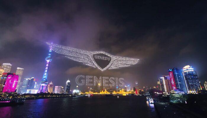 Опубликовано видео рекордной рекламы Genesis с использованием почти 3,3 тысячи дронов