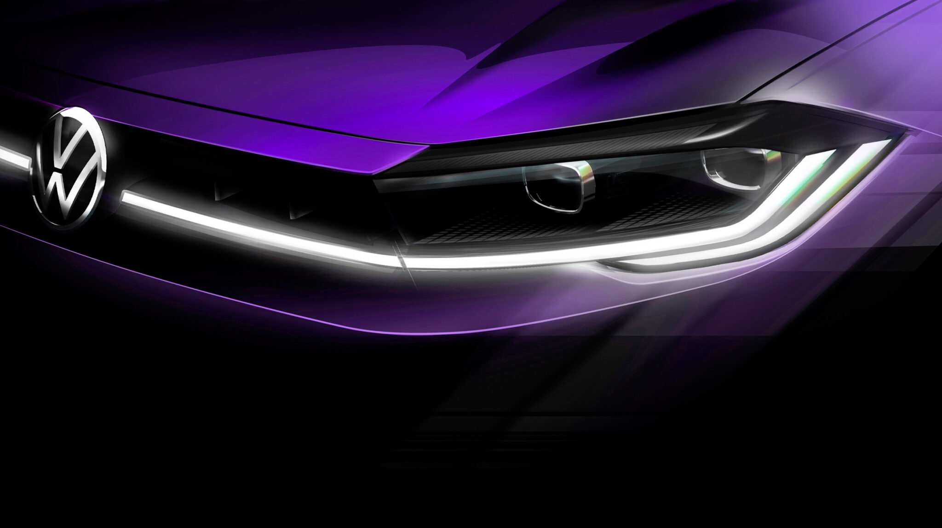 Фотографию-тизер нового Polo опубликовал Volkswagen перед мировой премьерой