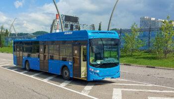 Новые газовые российские автобусы Volgabus 5270G2 тестируют на горных серпантинах