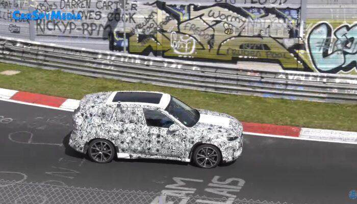 Видео тестов нового поколения BMW X1 опубликовали на канале CarSpyMedia