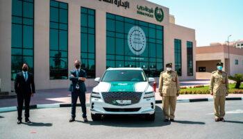 Премиальный внедорожник Genesis GV80 закупили для полиции Дубая