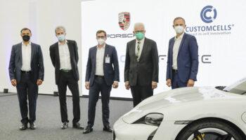 Porsche запускает собственное производство батарей для электромобилей
