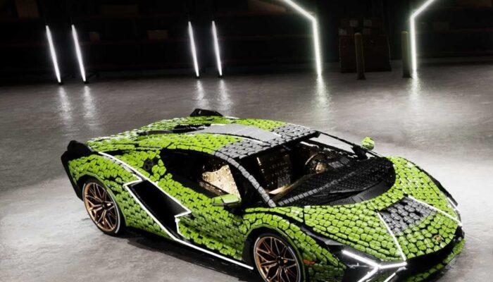 Lamborghini Sian FKR 37 собрали в натуральную величину из 400 тысяч деталей Lego