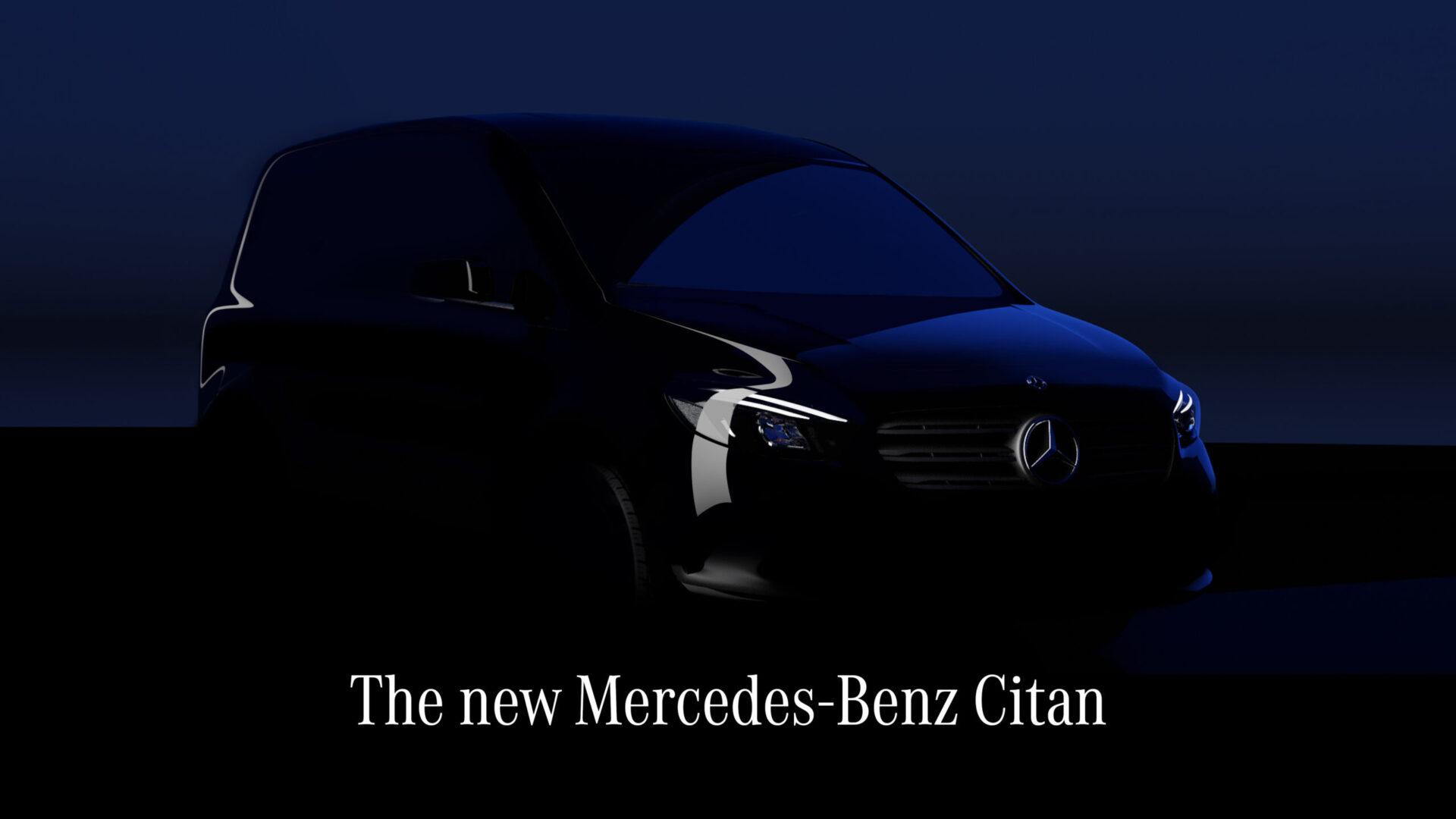 Mercedes объявил дату презентации нового фургона Citan с электрической версией