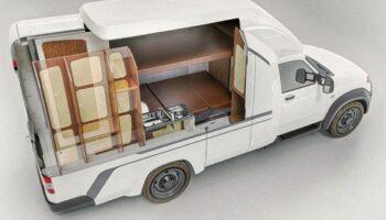 Автозавод УАЗ в РФ показал интерьер нового автодома на базе модели УАЗ «Профи»