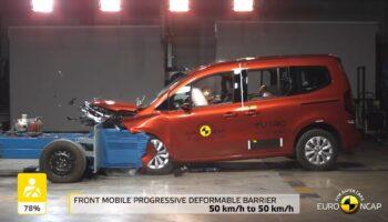 Renault Kangoo разбили на тестах безопасности Euro NCAP