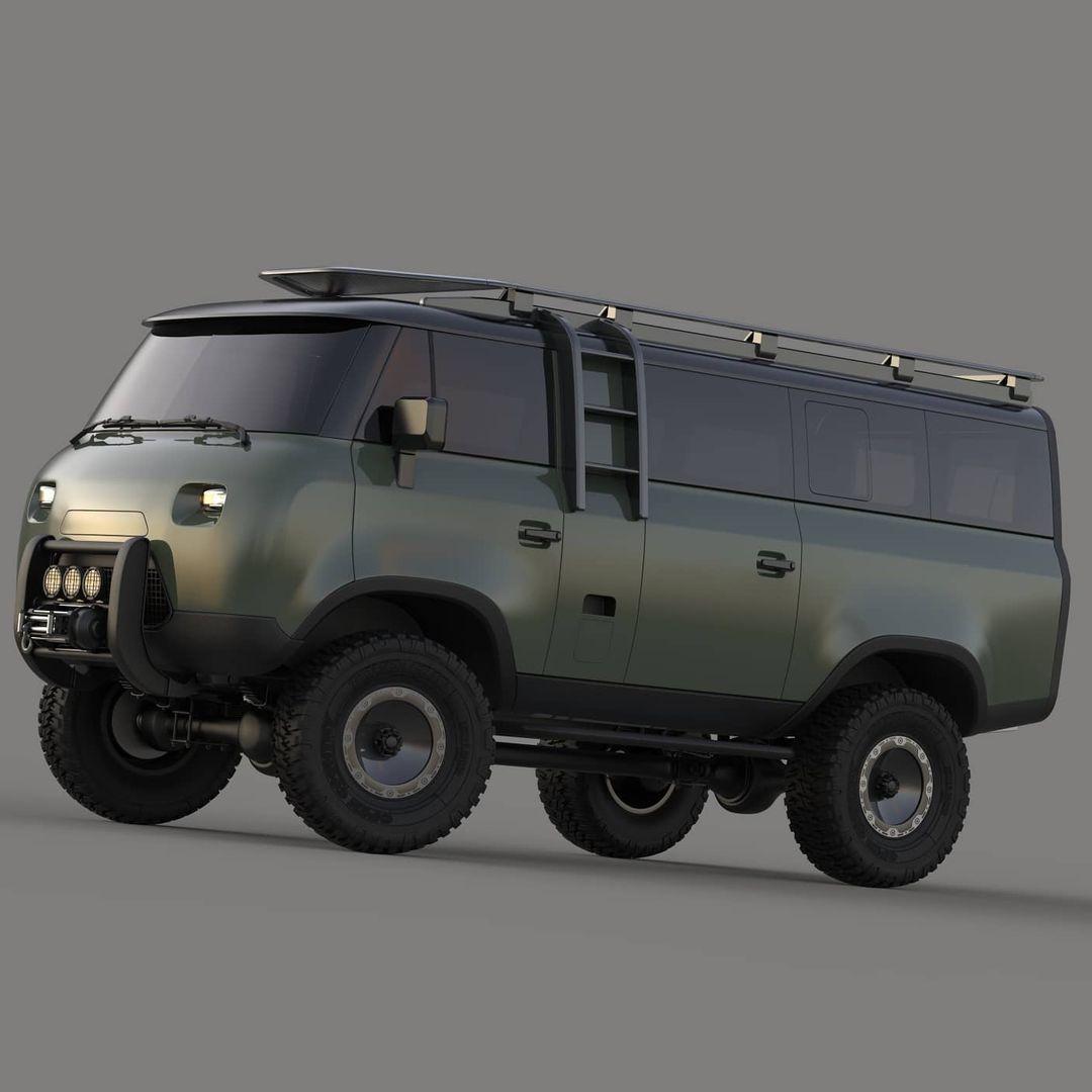 Появились рендерные изображения УАЗ 452 «Буханки» будущего
