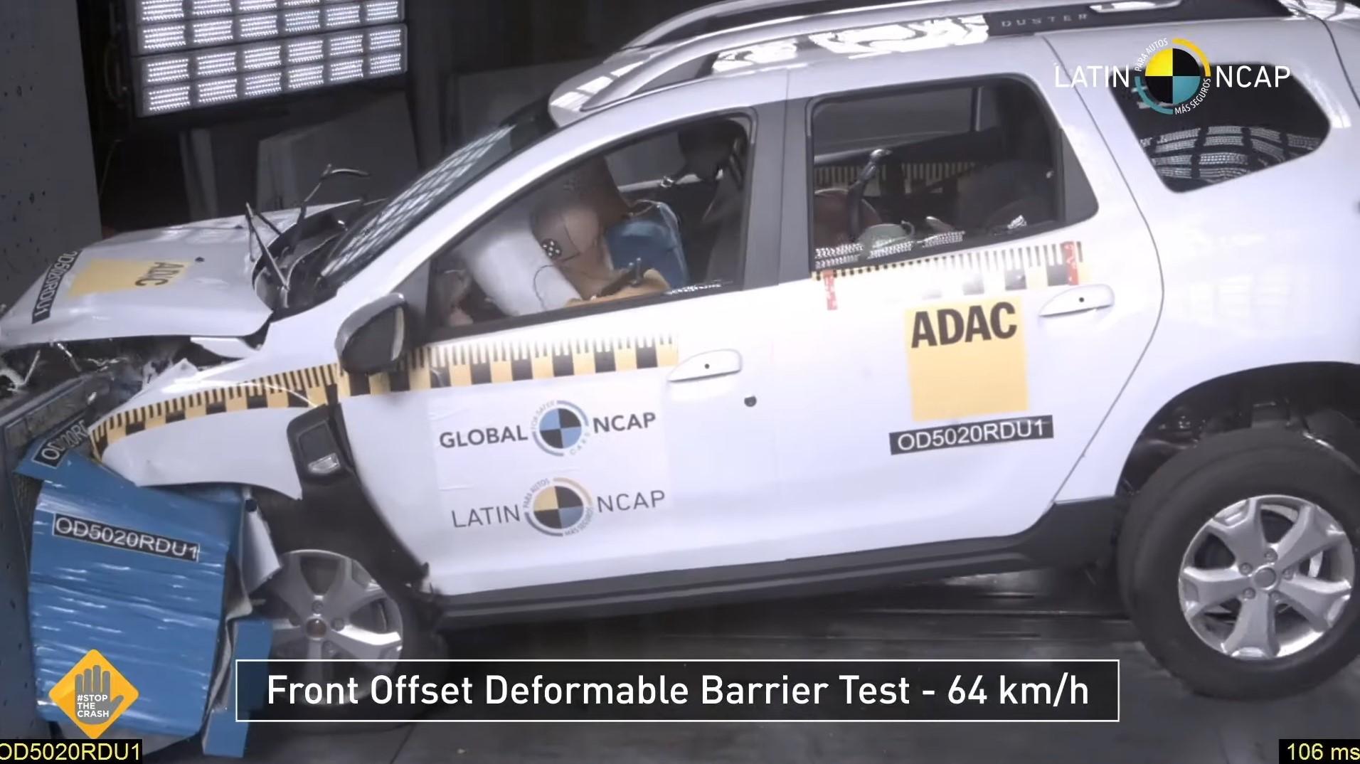 Renault Duster 2022 получил 0 звезд в краш-тесте Latin NCAP в 2021 году на видео