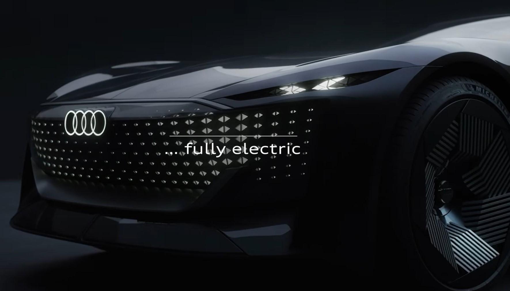 Компания Audi представила последние тизеры нового электрического концепта Skysphere