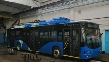 Новые троллейбусы «Авангард» на фото с мониторингом за состоянием водителя поступили в Читу