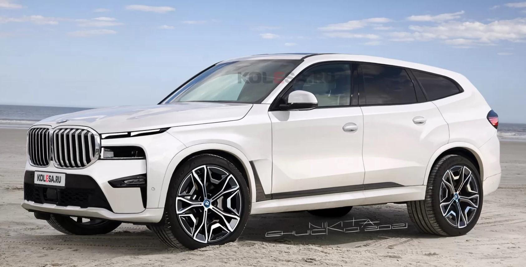 Появились первые рендерные изображения нового флагманского кроссовера BMW X8