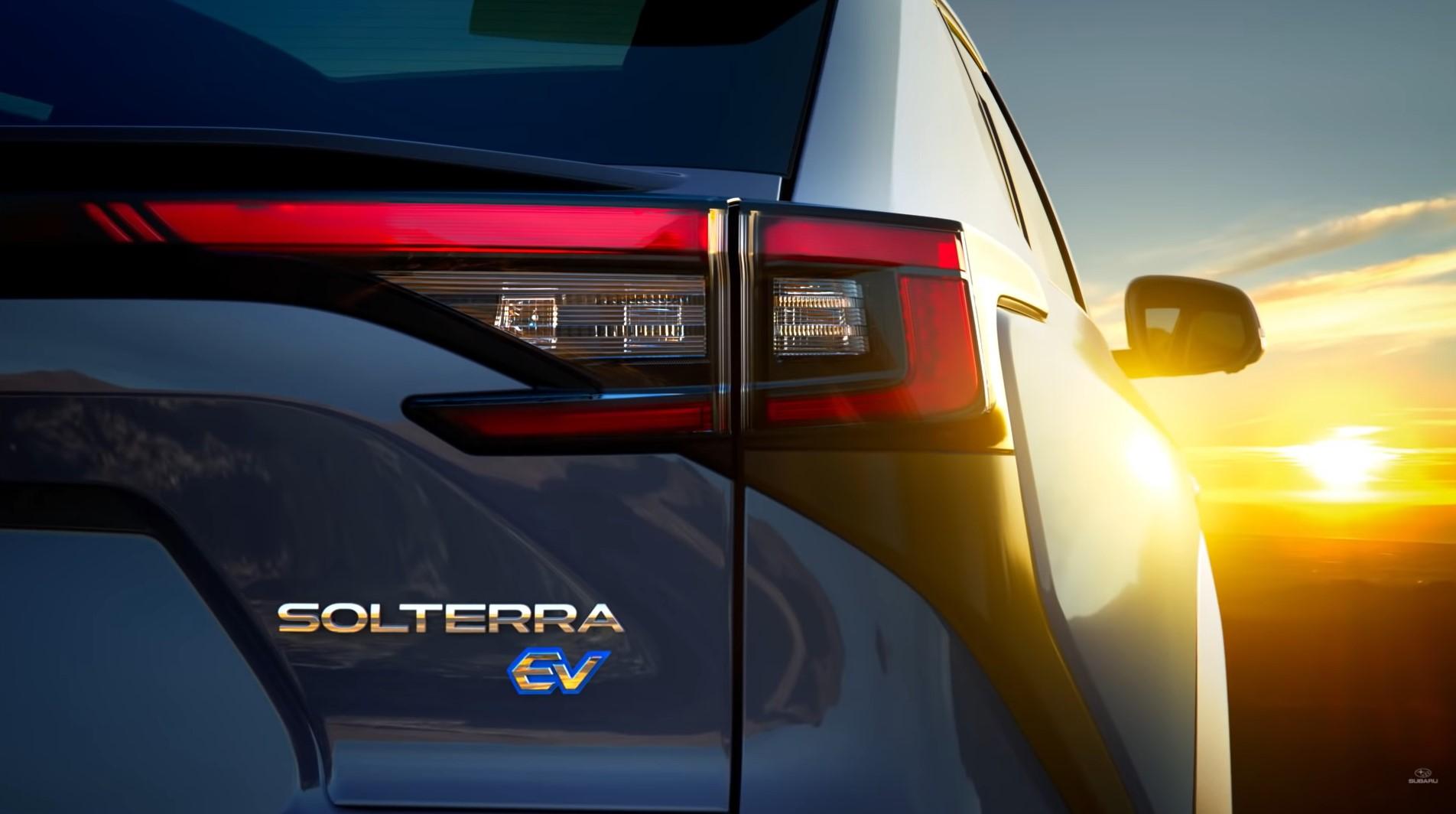 Компания Subaru представила новый электрический кроссовер Solterra 2023 года на видео