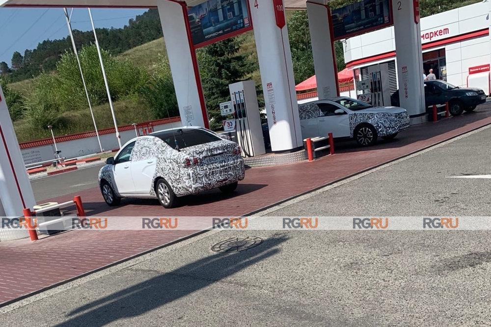 Обновленные автомобили Lada Vesta FL заметили на юге России в сентябре 2021 года